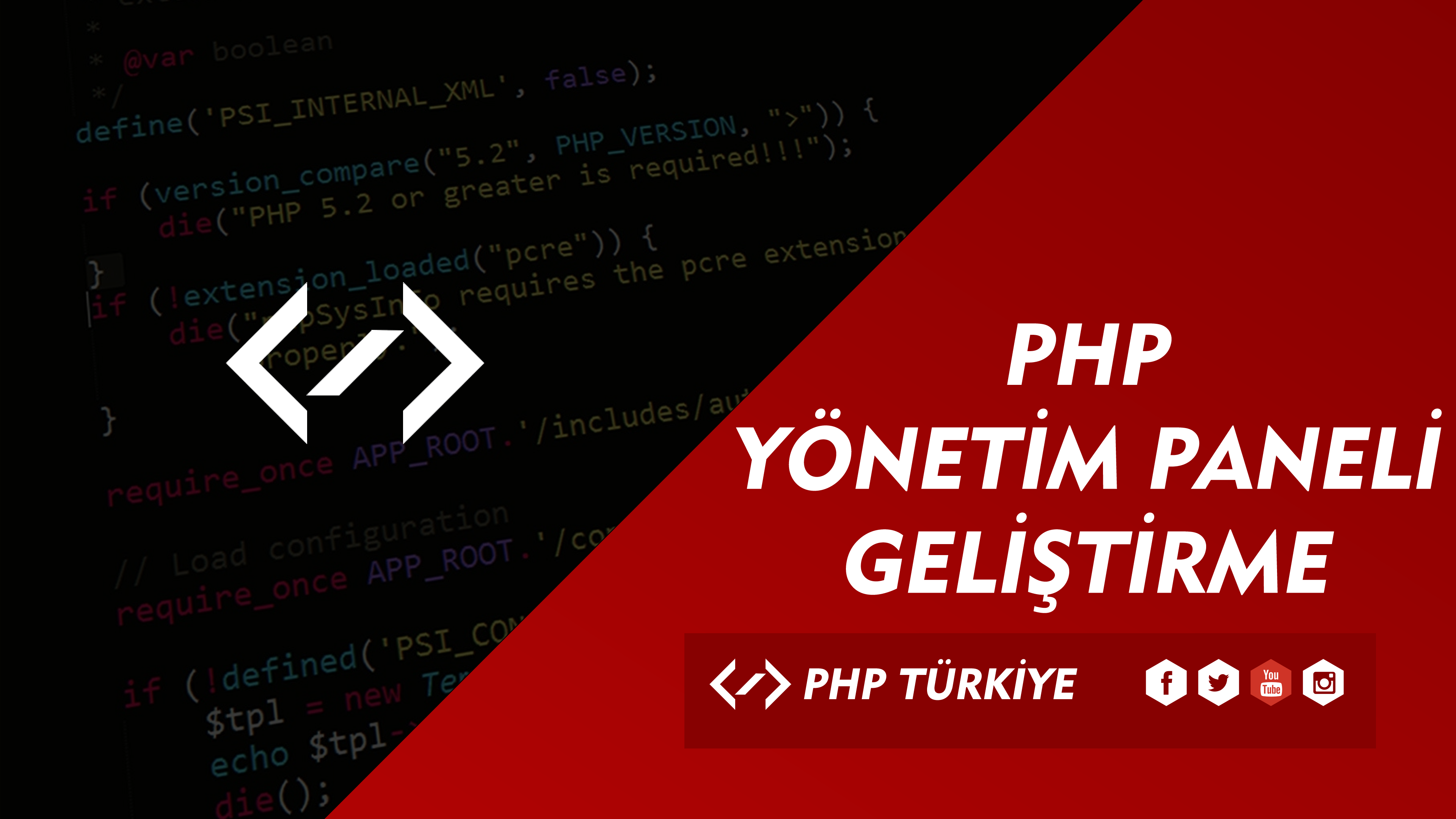 PHP İle Yönetim Paneli Eğitimleri