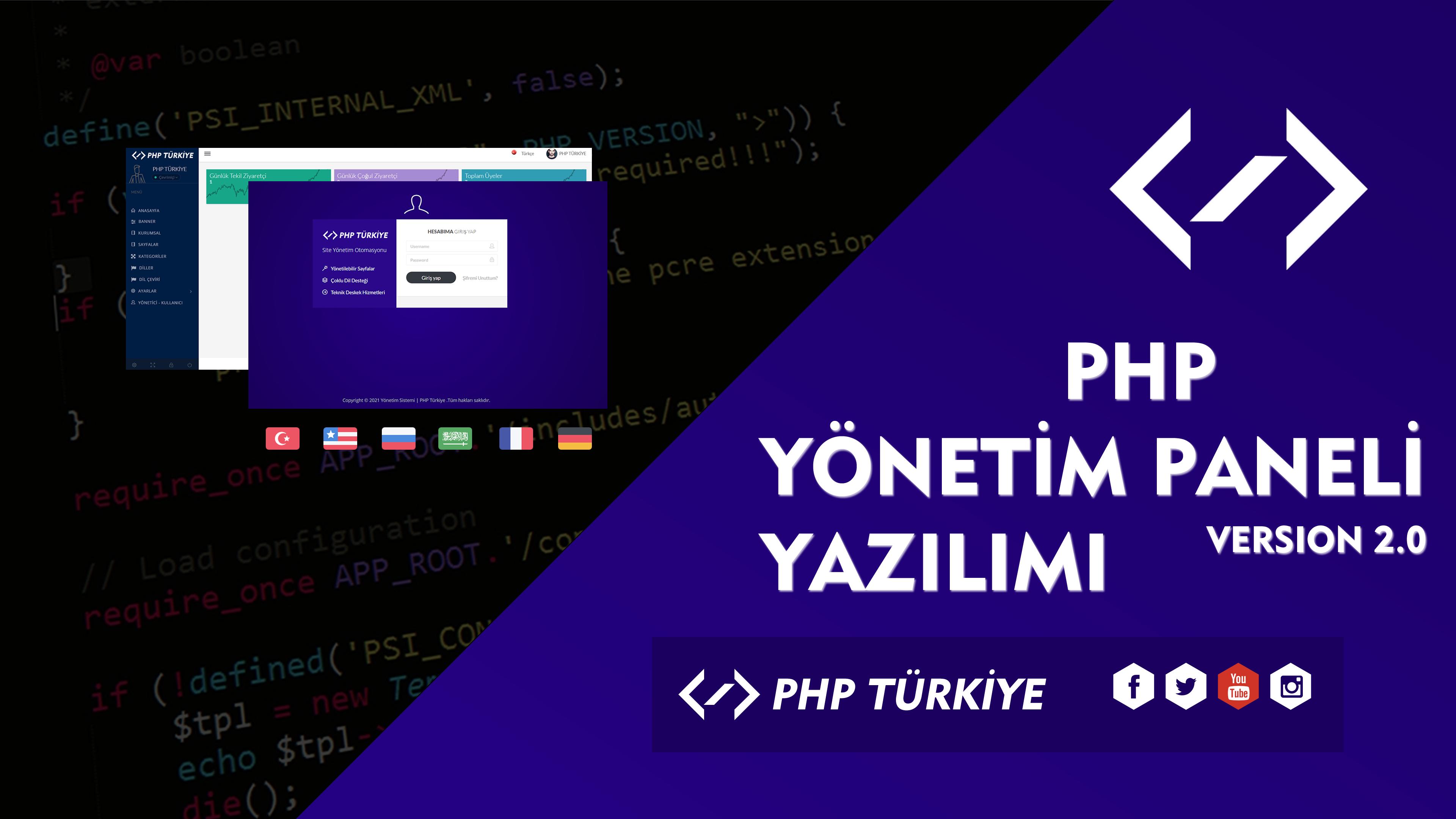 PHP İle Çoklu Dil Destekli Yönetim Paneli Yazılımı